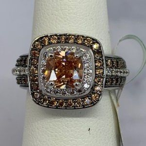 RS Covenant Sparkling Clear & Chocolate CZ Ring
